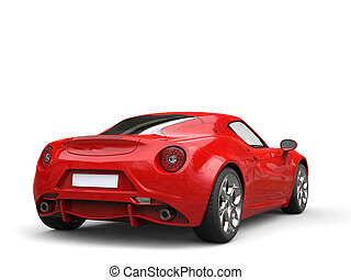 Carnelian red sport concept car - tail view