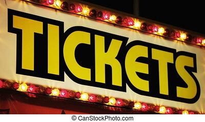 carnevale, cabina biglietto, notte