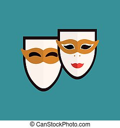 carnevale venezia, maschere, icona