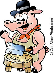 carnicero, cerdo