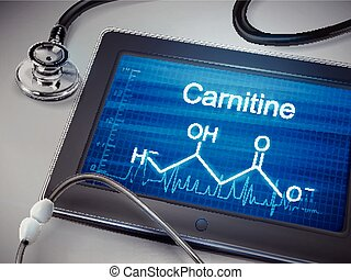 carnitine word display on tablet