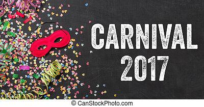 Carnival 2017 written on a blackboard