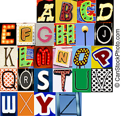 Carnival Alphabet Set JPG Letters Type Typography Characters