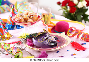 Carnival and party place setting