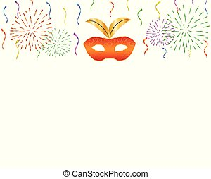 Carnival background with celebration decorations.
