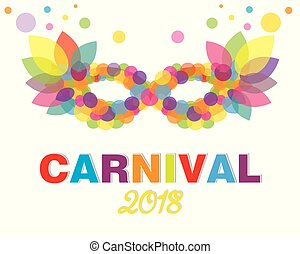 Abstract and colorful carnival mask