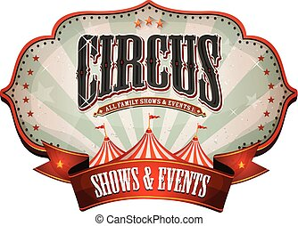 Carnival Circus Banner With Big Top