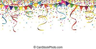 Carnival Confetti Ribbons Festoon Header