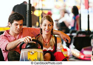 Carnival couple - dodgem