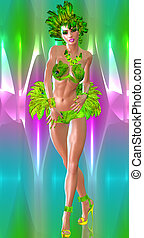 Carnival Dancer,colorful background