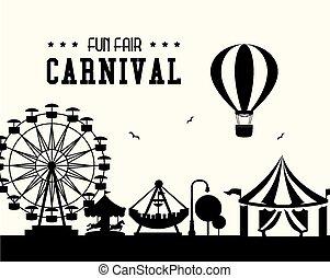 Carnival design over white background vector illustration -...