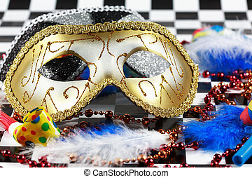 Carnival detail with mask