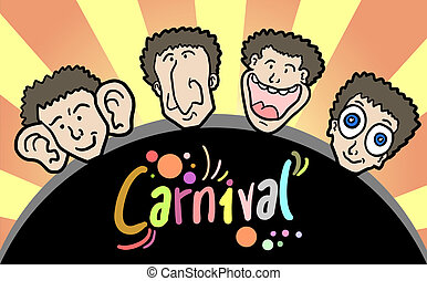Carnival faces