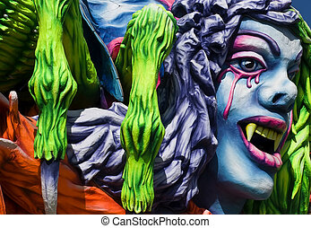 Carnival Float - Detail from a float at the International ...