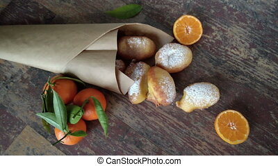 Carnival Fritters - Carnival fritters made of dough with...