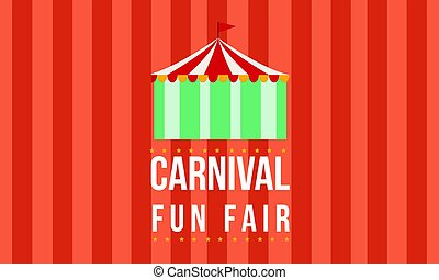 Carnival funfair with tent background