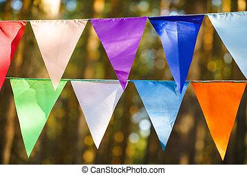 Decorative Party Pennants for Birthday Celebration