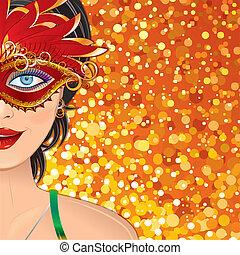 Carnival Girl Background