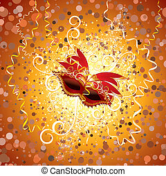 Carnival - Festive carnival, carnaval poster with luxury...