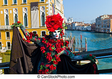 carnival in the unique city of venice in italy. venetian...
