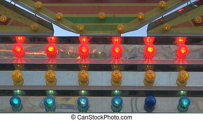 Carnival Lights - Flashing carnival light, Clark county...