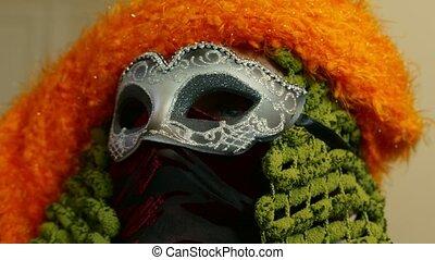 carnival mask close up - Venice Carnival mask eyes detail,...