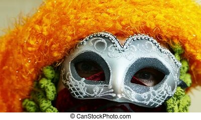 carnival mask close up - Venice Carnival mask eyes detail,...