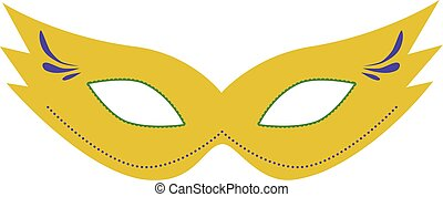 Carnival mask flat design icon