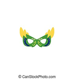 carnival mask flat on white background