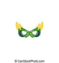carnival mask flat on white background