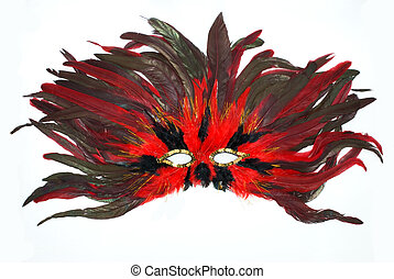 Carnival mask from feathers