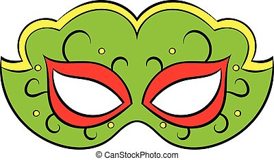 Carnival mask icon cartoon