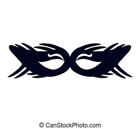 carnival mask icon illustrated in vector on white background