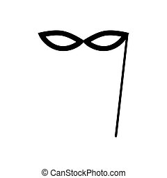 Carnival mask icon isolated on a white background. Vector illustration