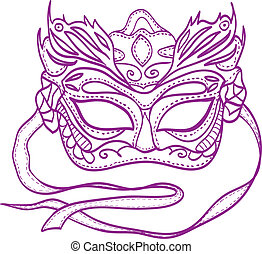 Illustration of carnival mask - vector drawing