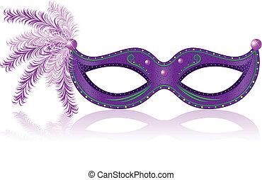 Carnival Mask - Illustration of purple carnival mask.