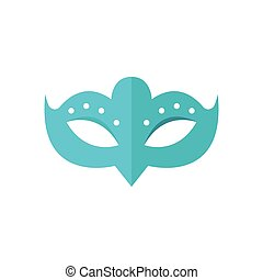 Carnival mask isolated. Vector illustration isolated on white background