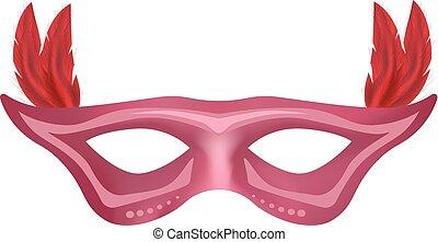 Carnival mask mockup, realistic style