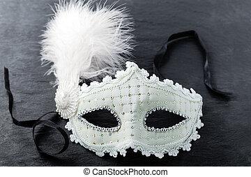 Carnival mask on black background