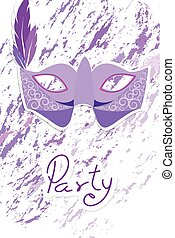 Carnival mask on splash color background