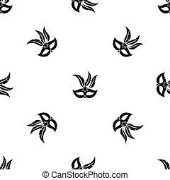 Carnival mask pattern seamless black
