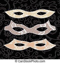 Carnival mask set.