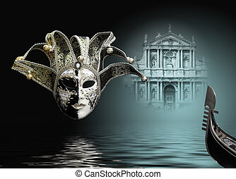 carnival mask - Beautiful carnival mask composition from...