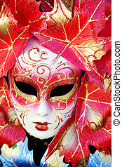 Carnival mask close-up, Venice