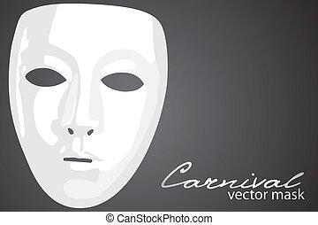 Carnival mask on dark background