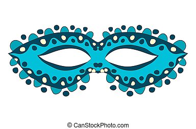 Carnival mask. vector illustration. Drawing by hand.