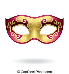 Vector illustration of a carnival mask