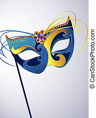 vector illustration of a decorative carnival mask
