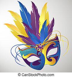 Carnival mask - vector illustration of a decorative carnival...