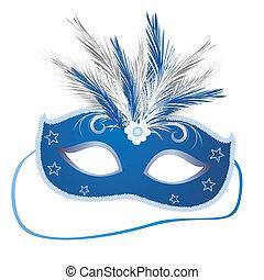 carnival mask - vector illustration of an elegant venetian ...